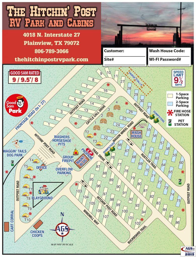 View our Plainview, TX RV Park Map